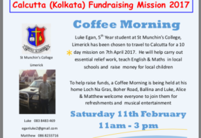 Coffee Morning for Kolkata; Luke Egan