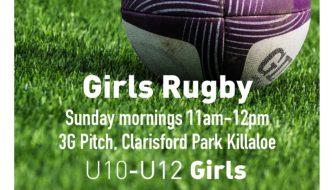 Girls U10 – U11 – U12 Rugby training