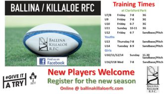 Training Times: Rugby's Back!